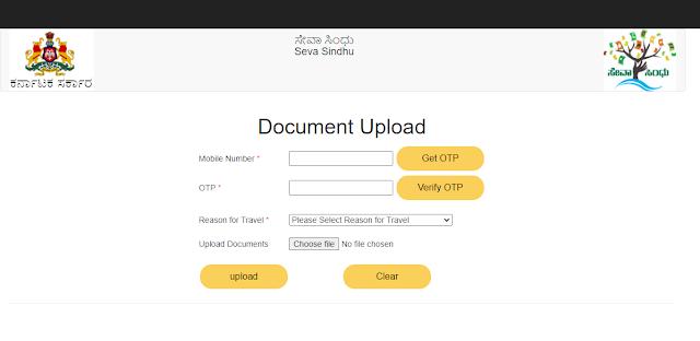 covid 19 travel document upload on seva sindhu