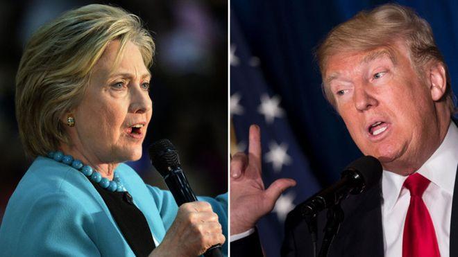 US election: Trump calls Hillary Clinton a 'bigot'