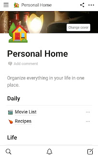 Notion Personal Home