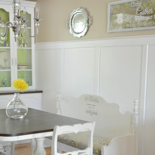 A Repurposed Mismatched Headboard And Footboard Dining Bench
