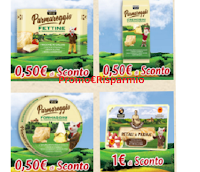 Logo Parmareggio coupon: Fettine, Formaggini, Cremosini, Petali di Parma