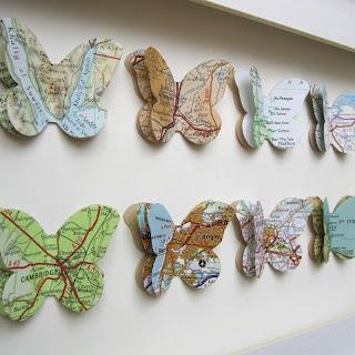 Resultado de imagem para mapa borboletas decoração
