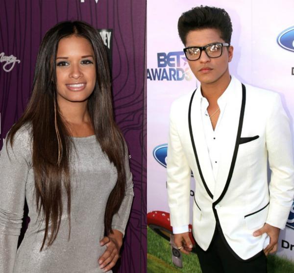Bruno Mars Dating BET 106 & Park s Rocsi Diaz