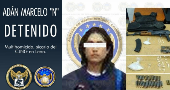 """Capturan a """"El Chelito"""" el Sicario mas letal del CJNG en León, Guanajuato ya llevaba mas de 50 ejecutados"""