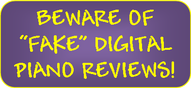 pic of sign - beware of fake piano reviews