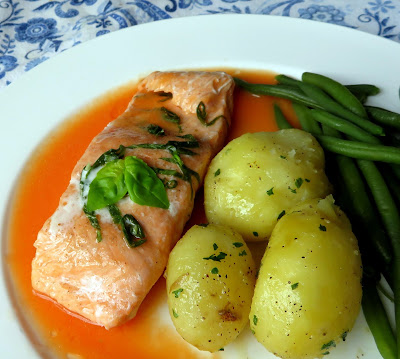 Steamed Sea Trout with a Ginger & Tomato Sauce
