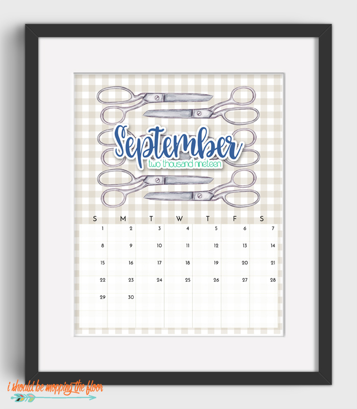 September Sewing Calendar