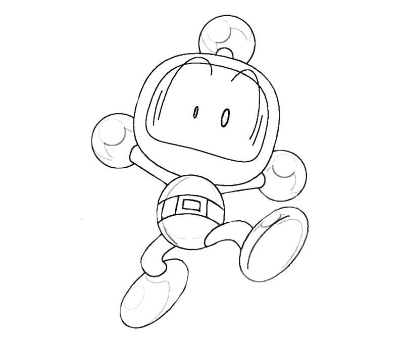 Bomberman coloring pages ~ Bomberman Bomberman Run | Mario