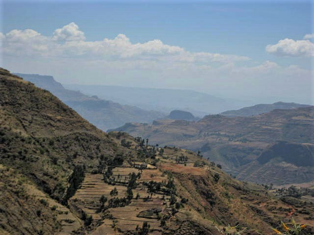 Road from Gonder to Lalibela, Ethiopia. January 2011.