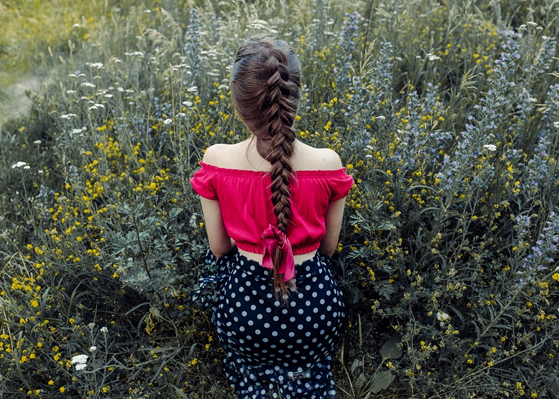 piękny warkocz fryzura
