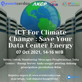 Webinar ICT for Climate Change: Save Your Data Center Energy - 7 Okt 2021