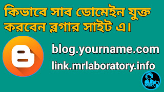 How to use subdomain in Blogger - mr laboratory
