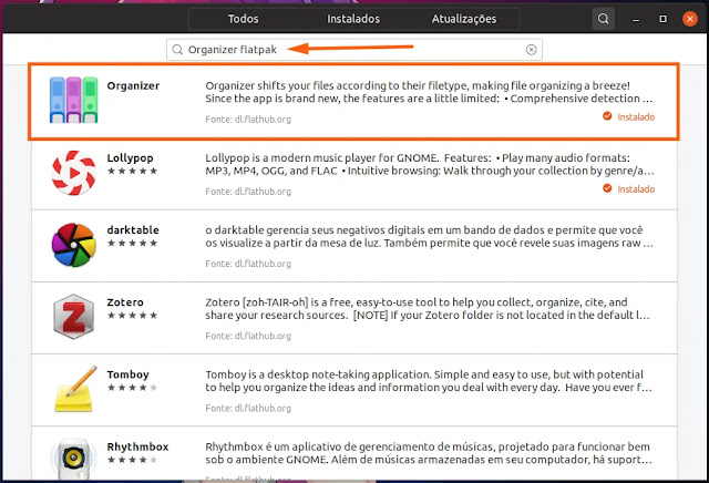 organizar-arquivos-linux-flatpak-snap-ubuntu-mint-interface-gráfica-gui
