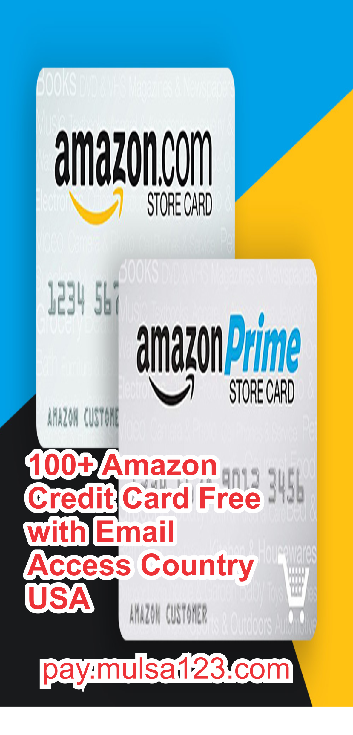 100+ Amazon Credit Card Free with Email Access Country USA