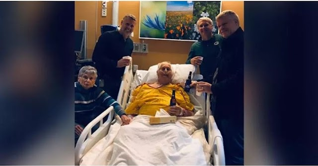 Man to his Dying Grandfather - 'I wish to have One more Beer together""