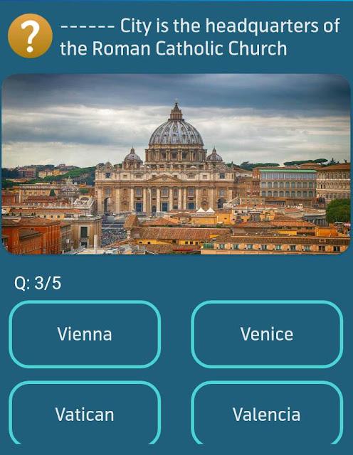 City is the headquarters of the Roman Catholic Church?