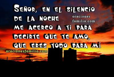 Oracion de la noche Dios te amo