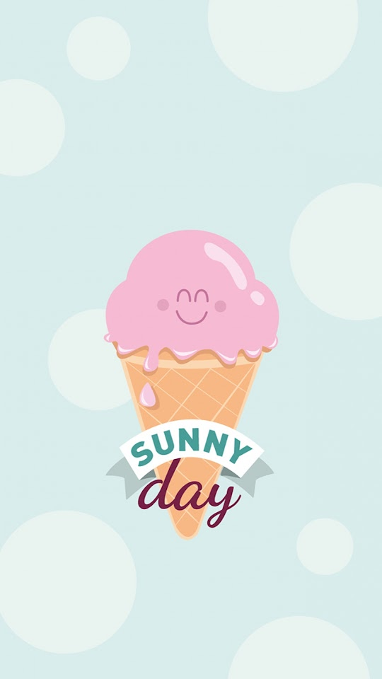 Sunny Day Icecream Illustration  Galaxy Note HD Wallpaper