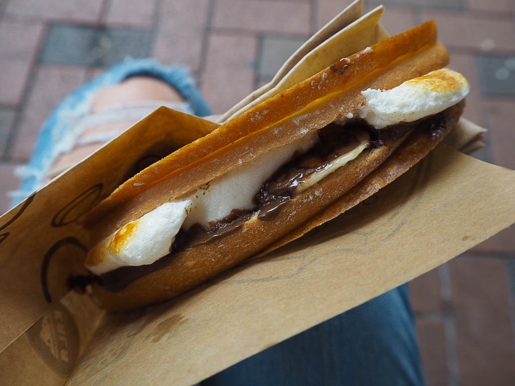 nutella banana marshmallow toastie hong kong