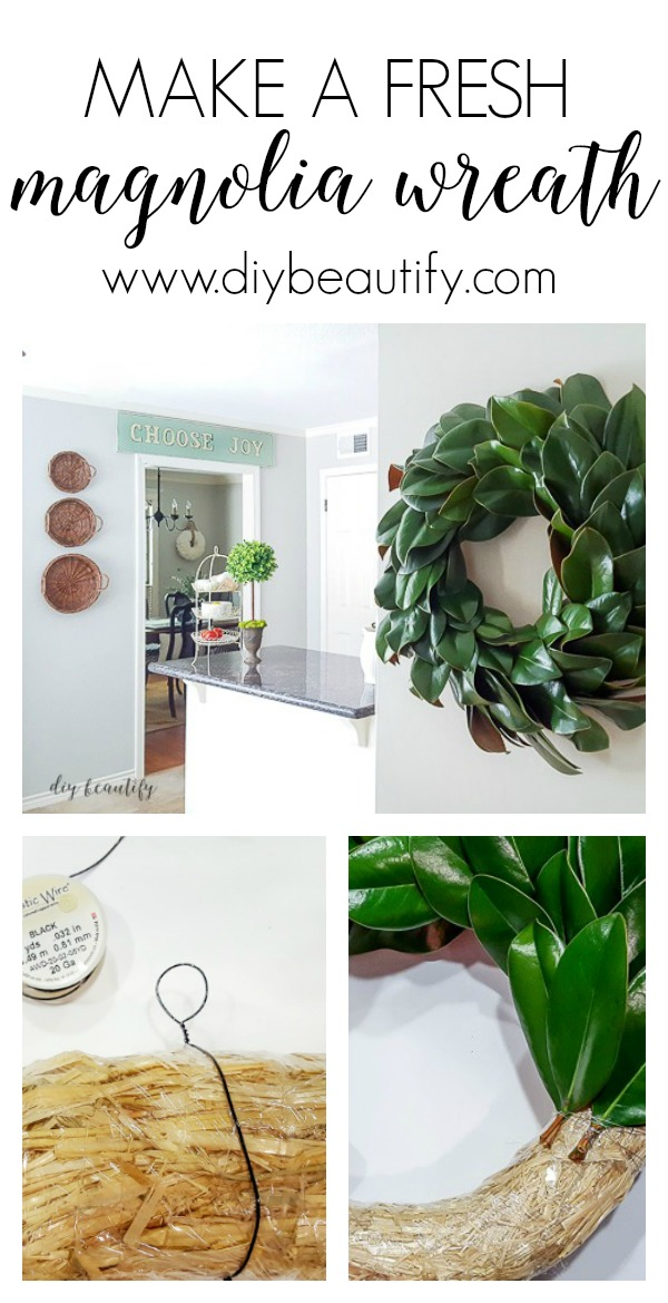 how to make a fresh magnolia wreath