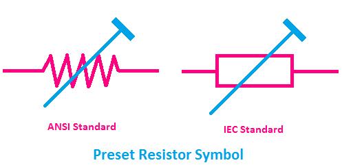 preset resistor symbol, symbol of preset resistor