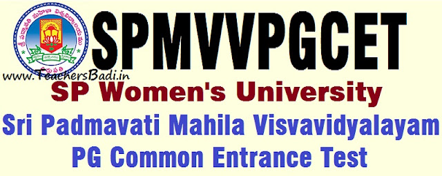SPMVV PGCET,Women's University,pg entrance test 2018