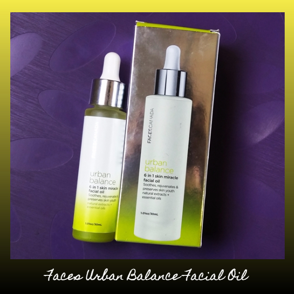 faces urban balance facial oil