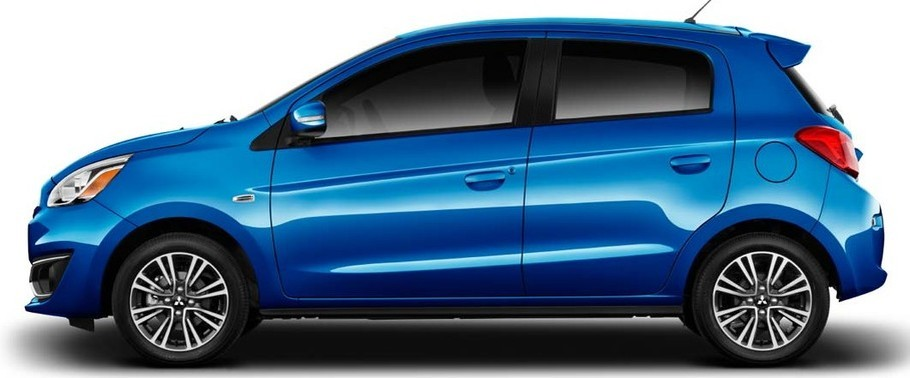 2016 Mitsubishi Mirage Side View
