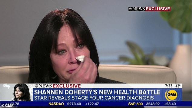 Шеннен Доэрти решилась и призналась поклонникам, что у нее последняя стадия рака
