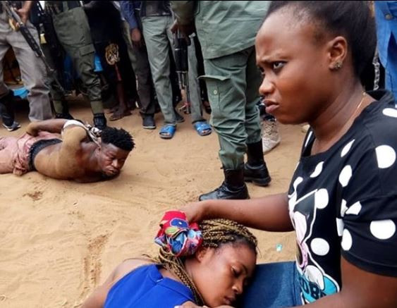 Police rescue young lady from the hands of ritualists in Delta State (Photos)