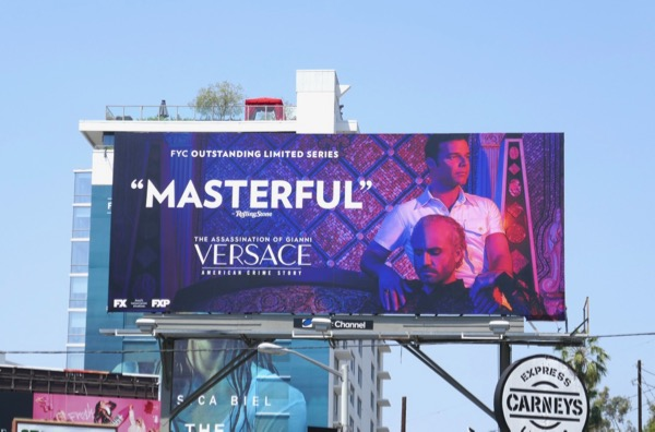Assassination Gianni Versace Masterful Emmy FYC billboard