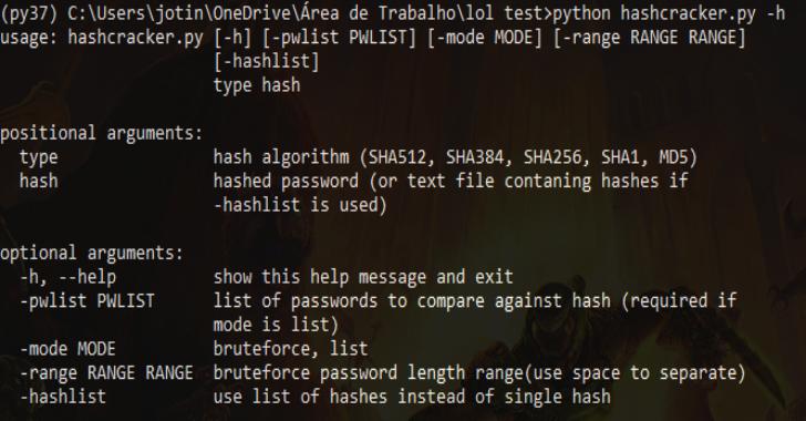 HashCracker : Python Hash Cracker