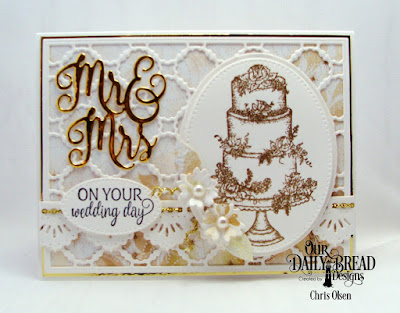 Our Daily Bread Designs Stamp Set: Long Lasting Love, Mr & Mrs, Scalloped Chain, Pierced Ovals, Ovals, Beautiful Borders, Paper Collection: Wedding Wishes
