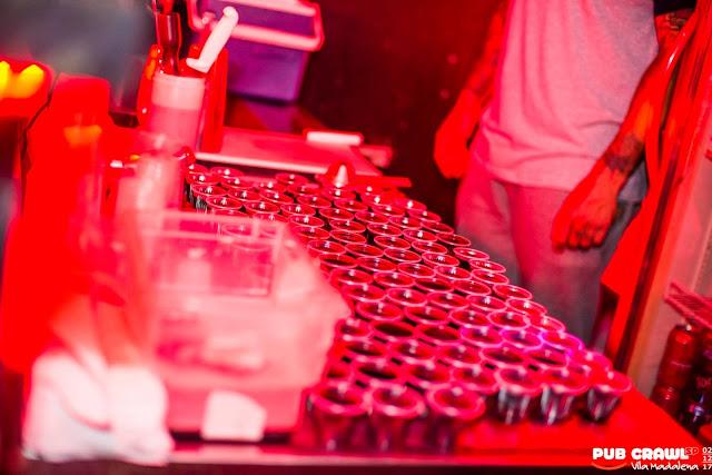 Welcome shot no Pub Crawl São Paulo