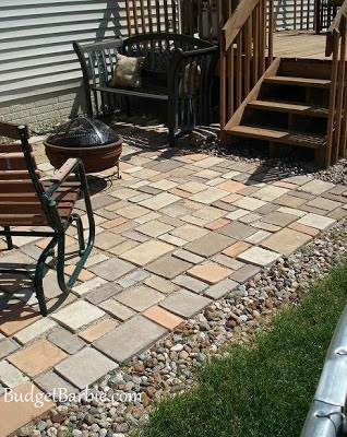 Budget Barbie: Our patio using Quikrete Walk Maker Mold to ...