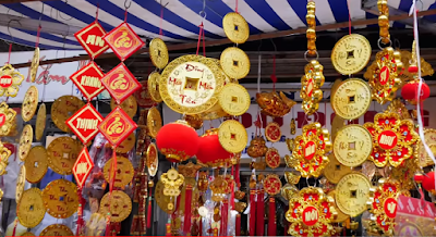 Lunar New Year  Flower Scroll Hanging Decorations