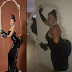 Lady Recreates Kim Kardashian's look for halloween