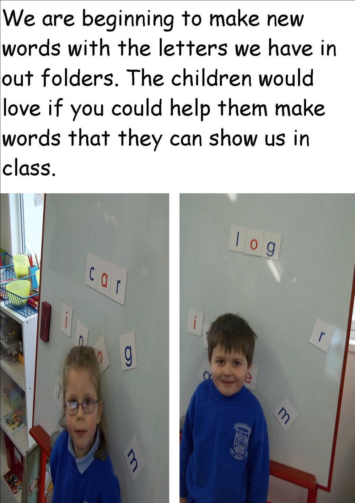 Literacy Site Playing Word Detective In Junior Infants