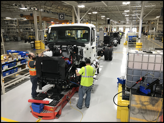 Mack MD Series on the Assembly Line
