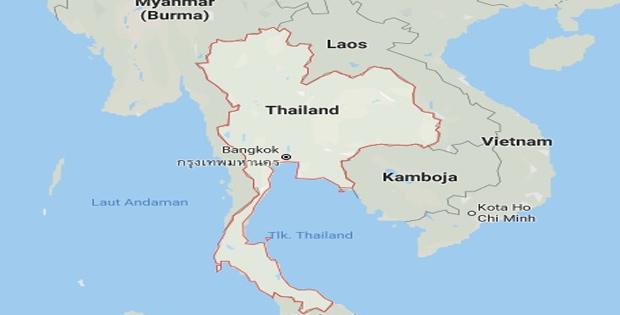 Letak Astronomis Thailand
