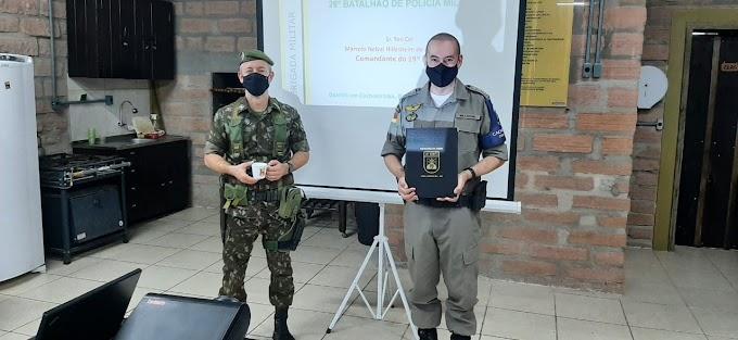 CACHOEIRINHA   26º BPM recebe visita do Comandante do 19º Batalhão de Infantaria Motorizado do Exército