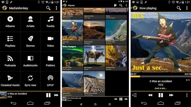 the best free music player in android