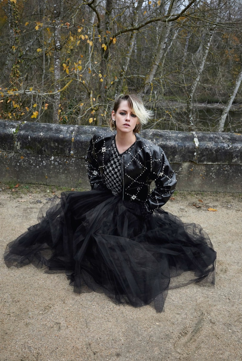 Kristen Stewart Poses Outdoors for Chanel Pre-Fall 2021 Campaign