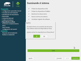Instalacion pantalla Yast2 Cosvernauta