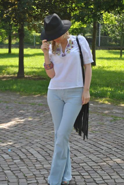 outfit anni 70 seventies outfit outfit giugno 2016 outfit estivi stile anni settanta mariafelicia magno fashion blogger colorblock by felym fashion blog italiani fashion blogger italiane