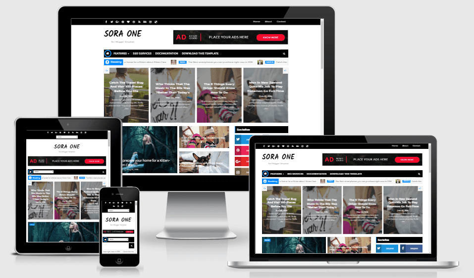 Sora One - Responsive Creative Blogger Template