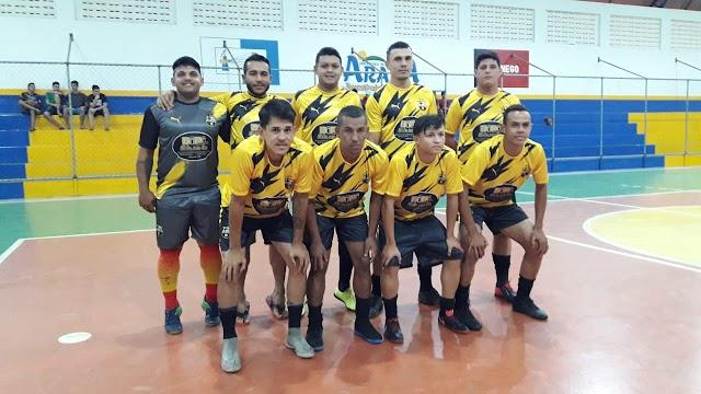 Noite de muitos gols nós amistosos de futsal desta quarta em Arara