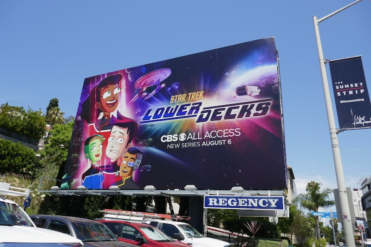 Star Trek Lower Decks series premiere billboard