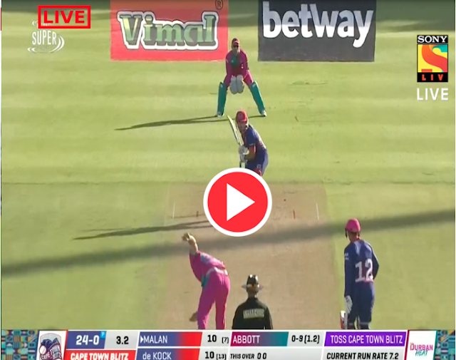 Watch live : Quinton De Knock vs David Miller, Cape Town Blitz vs Durban Heat, 18th Match - Live Cricket Score