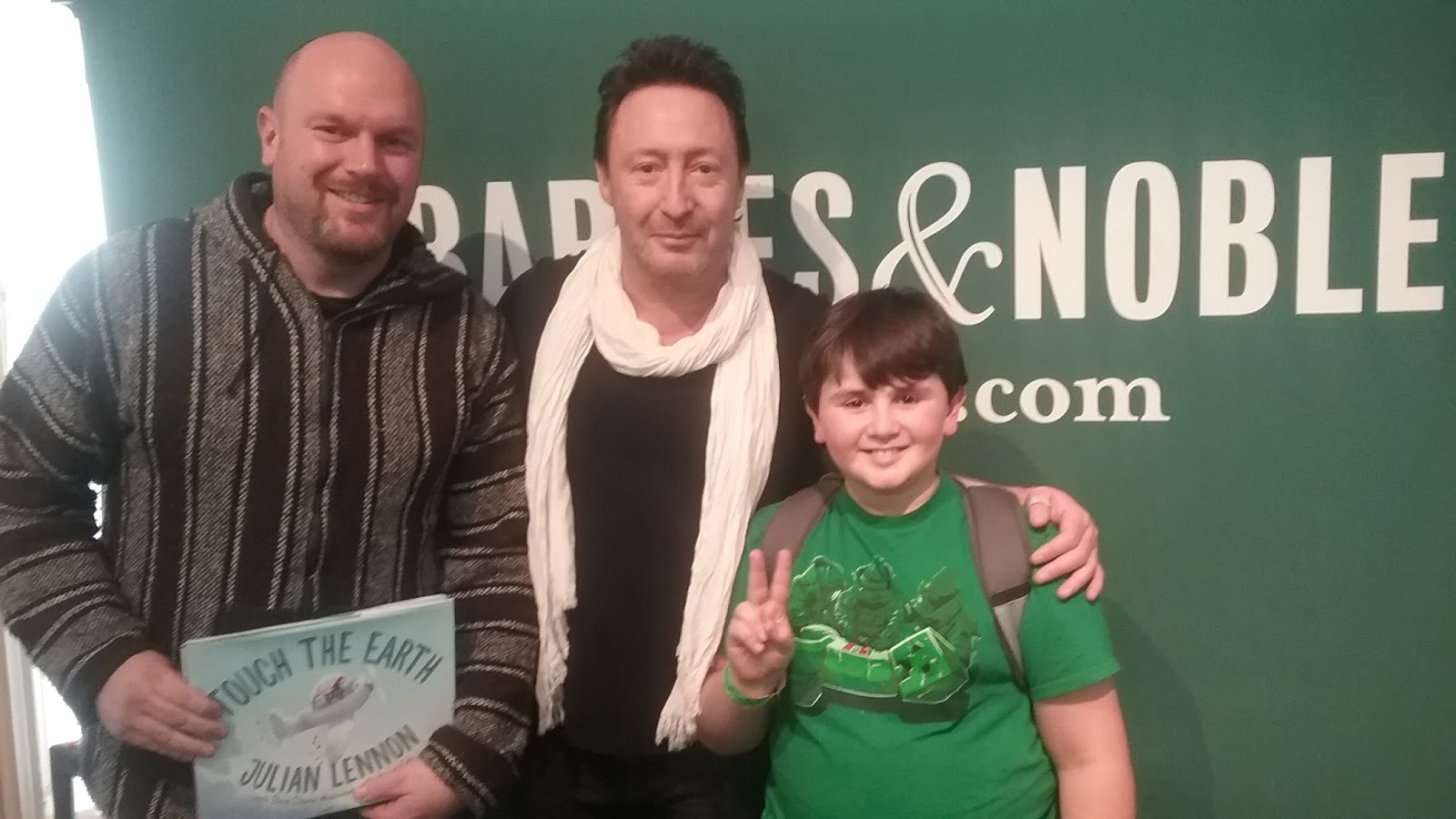 Julian Lennon Touch The Earth Book Signing Event